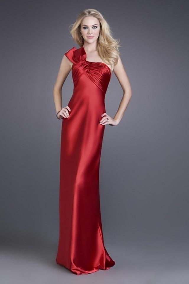 wedding photo - Gorgeous Sheath Floor-length Satin One-shoulder Evening/Prom Dress PD0046