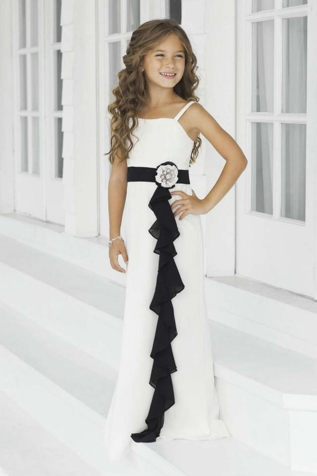 wedding photo - Chiffon Flower Girl Dress With Ruffle