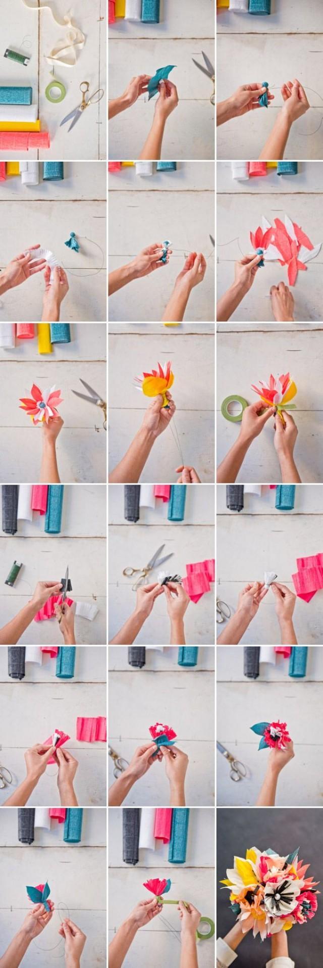 Как сделать своими руками быстро цветы из