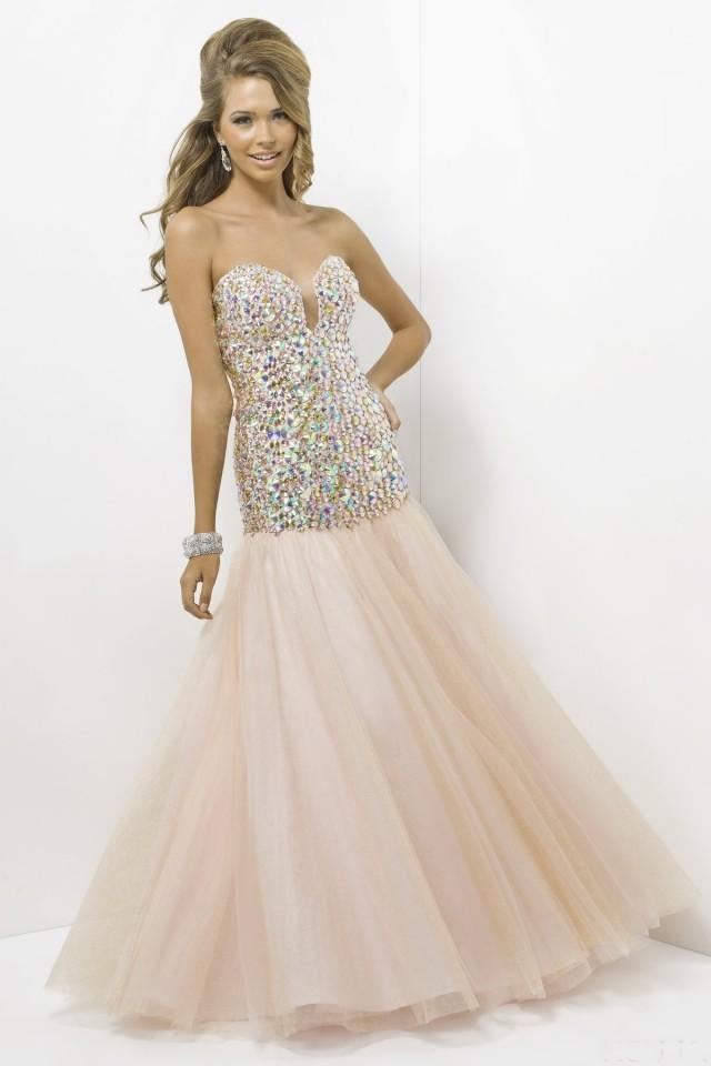 wedding photo - Tulle Beaded Sweetheart Floor-length Prom Dress With Diamond(PD0609)