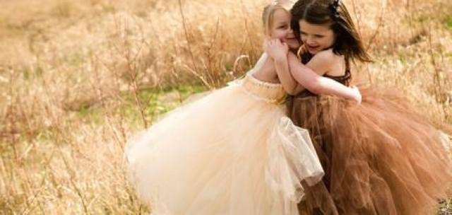 wedding photo - Bridesmaids And Flower Girl Dresses: Ivory Lane