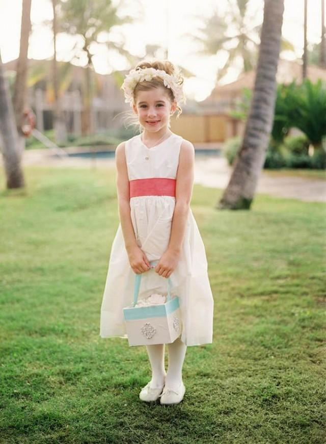 Handmade flower girl dresses and ring bearer by