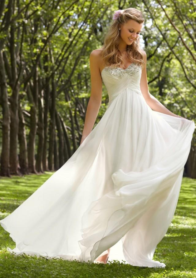 wedding photo - Diamante Beading On Delicate Chiffon Wedding Dresses(HM0259)
