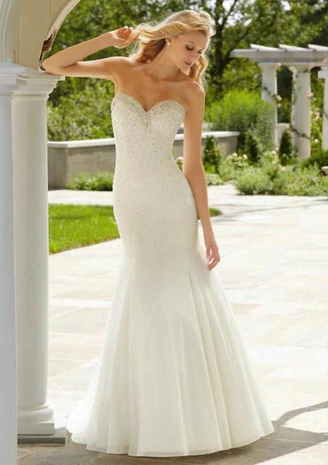 wedding photo - Crystal Beading On Soft Net Wedding Dresses(HM0258)