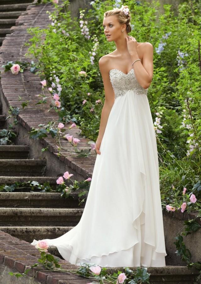 wedding photo - Crystal Beaded Embroidery On Delicate Chiffon Wedding Dresses(HM0255)