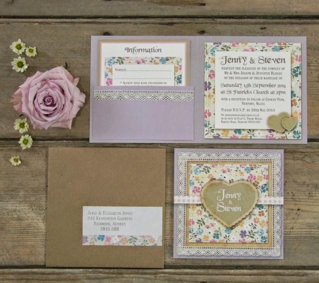 Knots And Kisses Wedding Stationery English Country Garden Floral Wedding Invitations