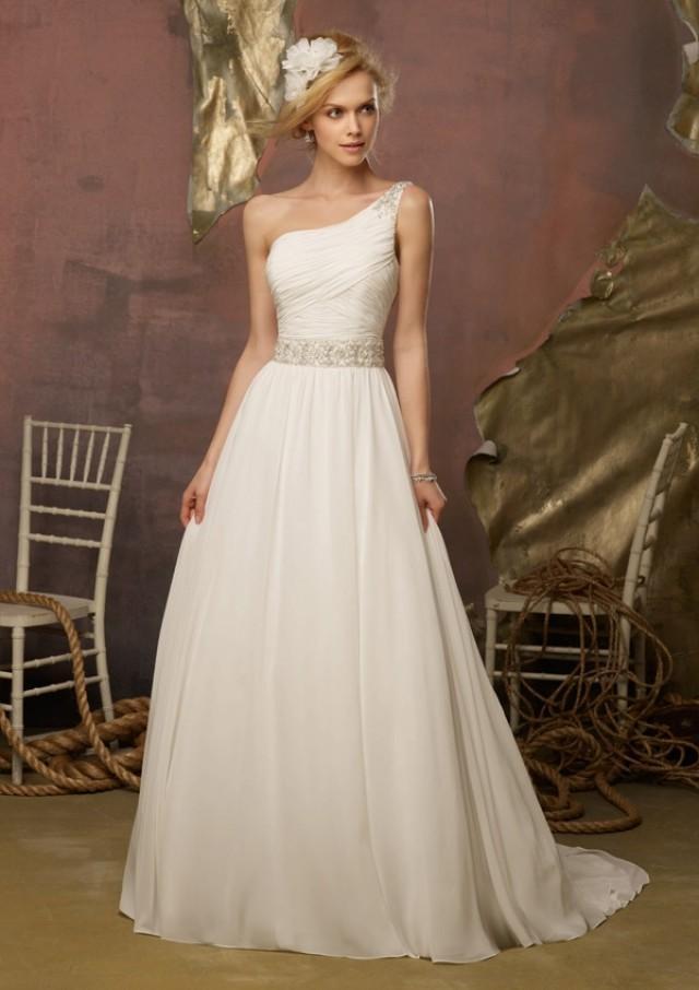 wedding photo - Crystal Beaded Whisper Chiffon Wedding Dresses(HM0273)