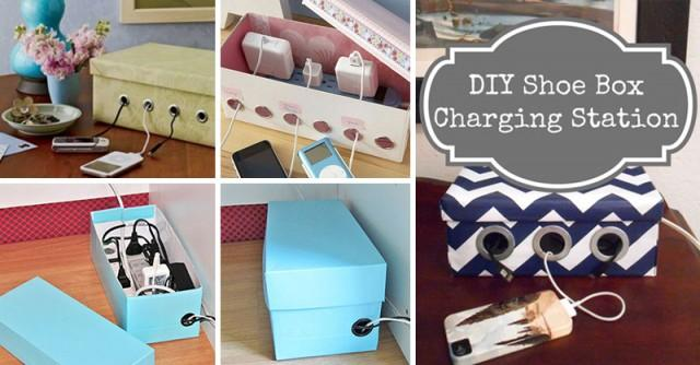 Shoe Box Charging Station Weddbook