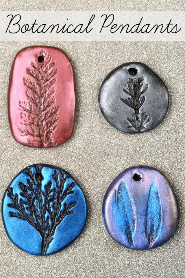 Diy Stamped Clay Botanical Pendants Weddbook