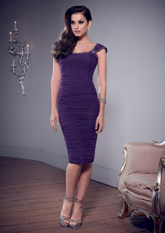 wedding photo - Stretch Mesh Mother Of The Bride Dresses(HM0712)