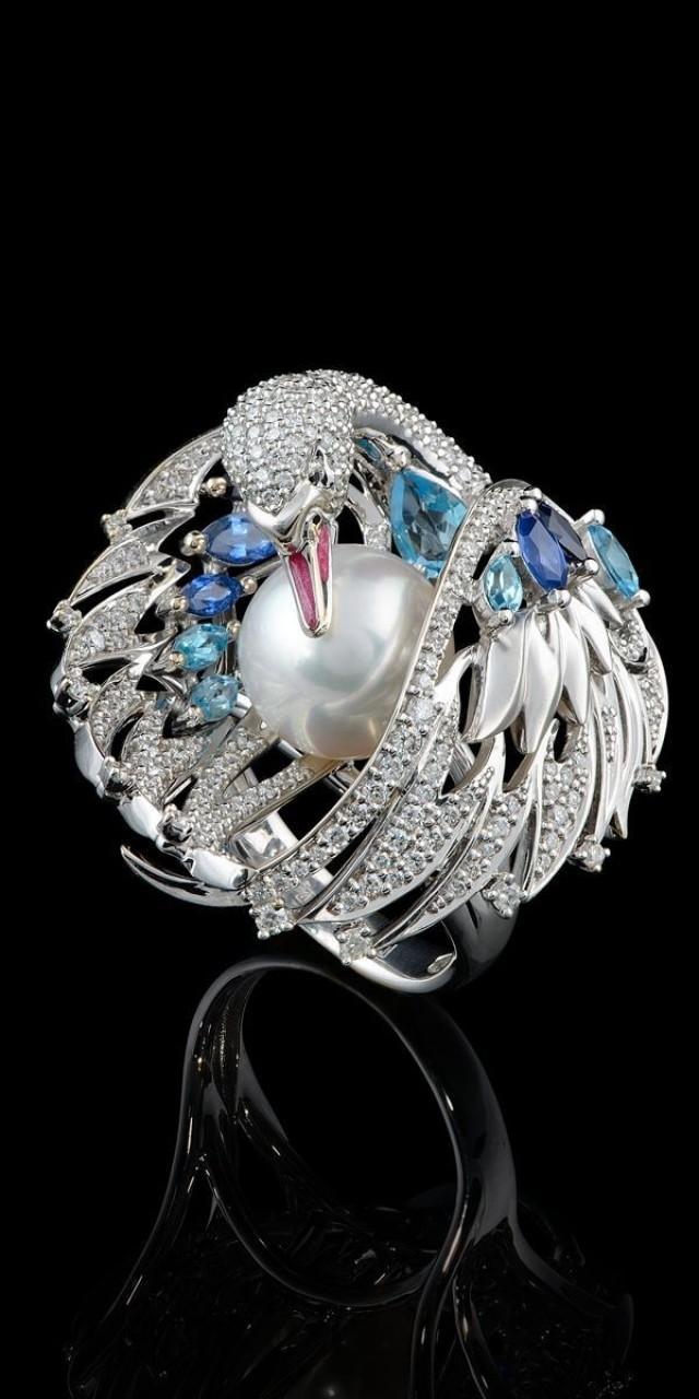 кольцо лебедь фото