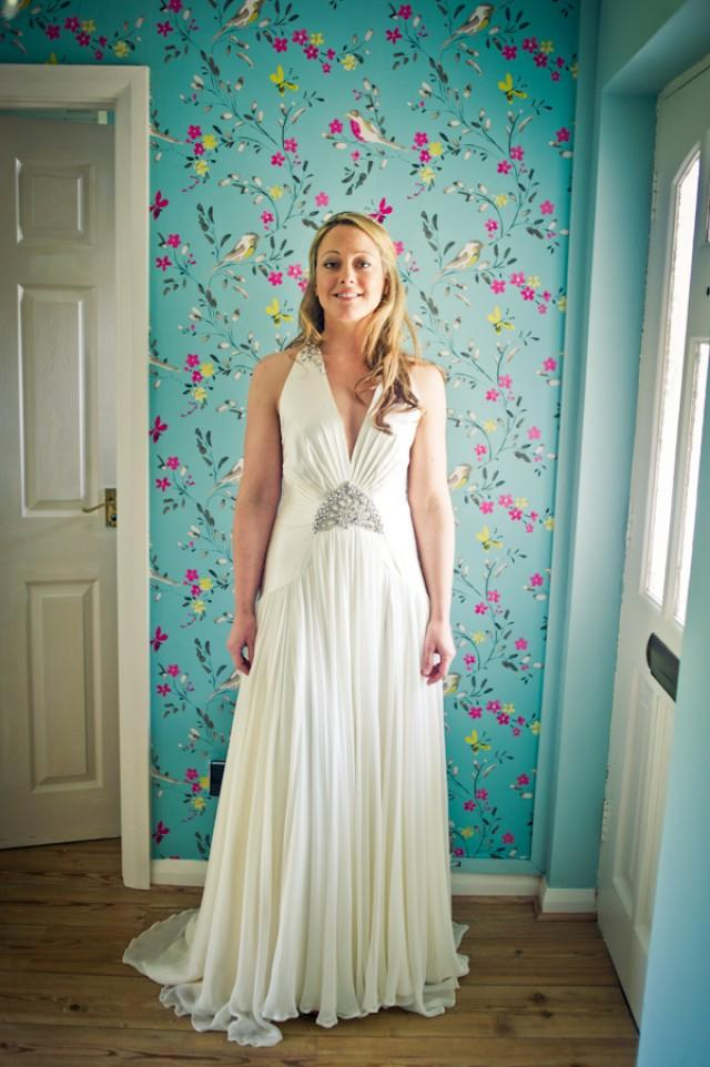 Stylish Beach Wedding In Wales With A Jenny Packham Ruby Dress ...