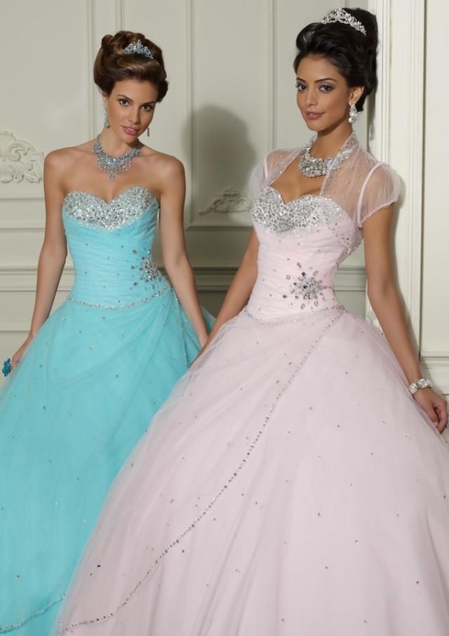 wedding photo - Beaded Tulle Bridesmaids Dresses(HM0590)