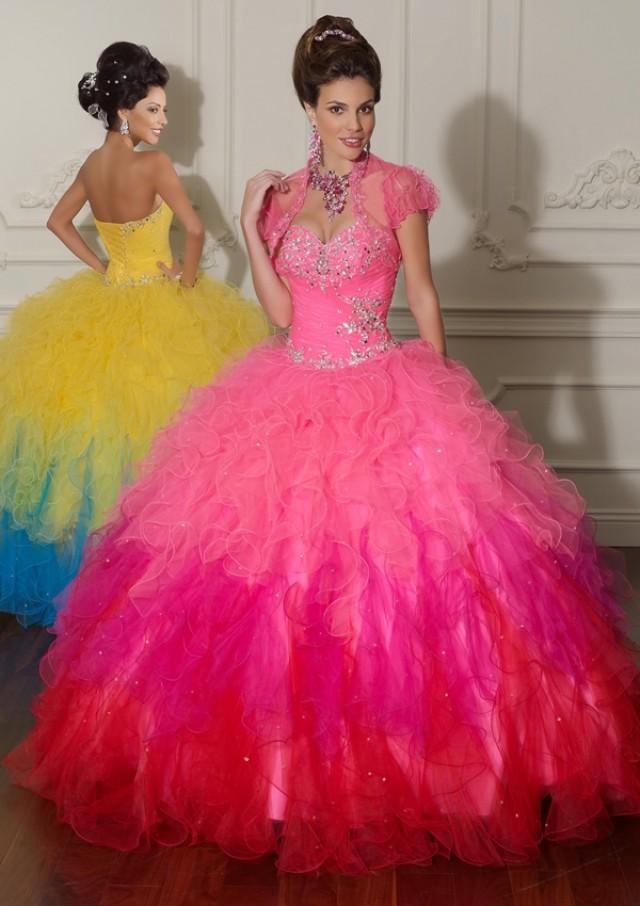 wedding photo - Beaded Tulle Bridesmaids Dresses(HM0589)