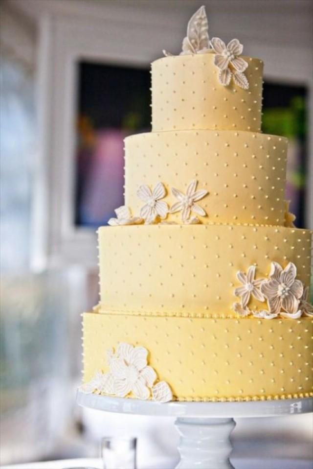31 Lovely And Joyful Yellow Wedding Cakes | Weddingomania - Weddbook