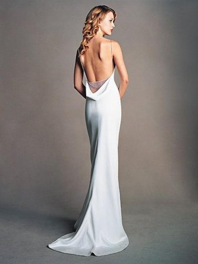 Backless dresses backless wedding gowns 2110738 weddbook for Wedding dress undergarments low back