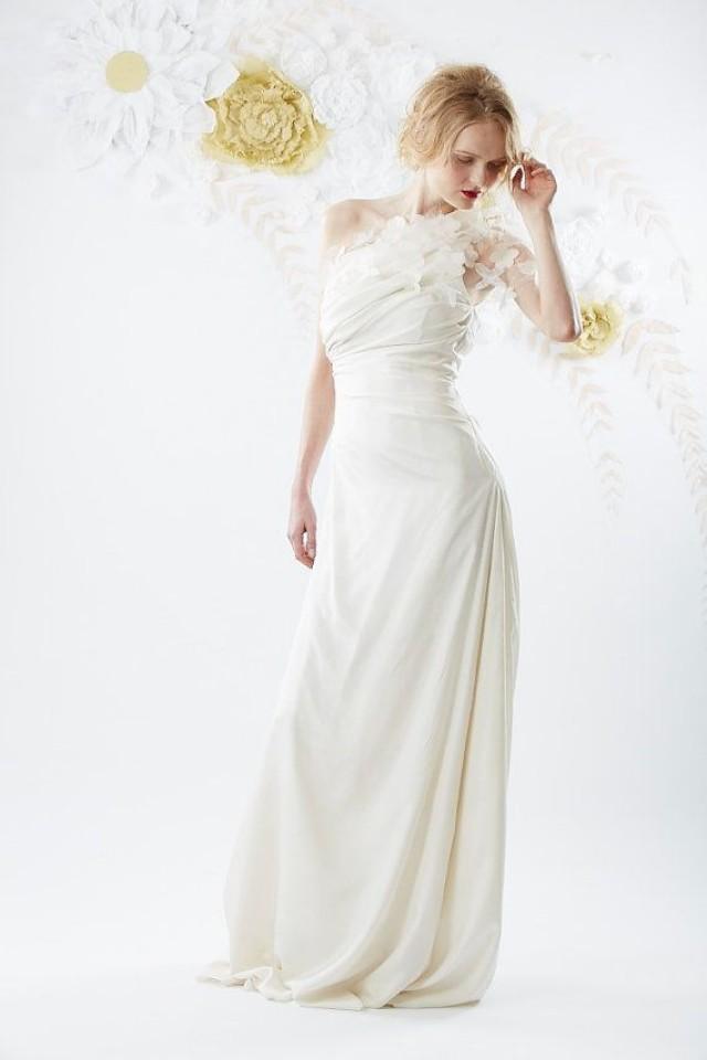 One Shoulder Strap Wedding Dress Inspiration 2110751 Weddbook