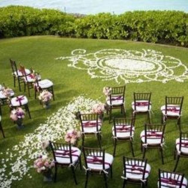 Outside Wedding Ceremony Decorations: Aisle & Ceremony Decor #2111603