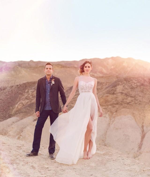 Wedding Elopement Ideas: Bohemian Desert Elopement Inspiration