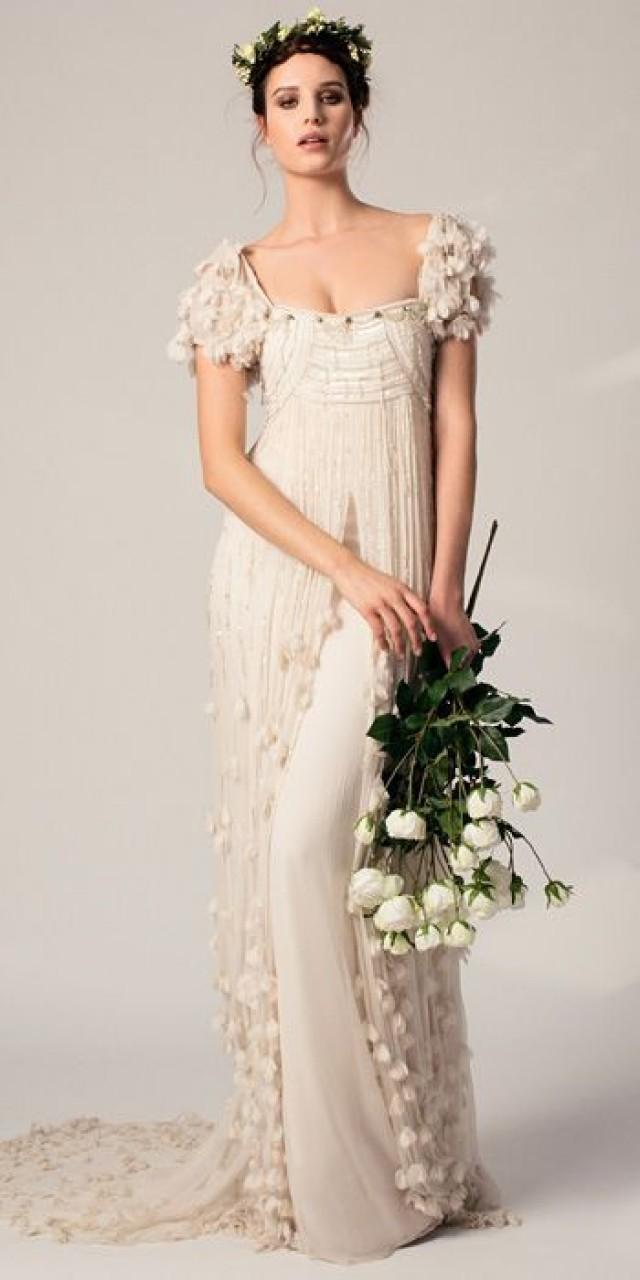 Short Sleeved Cap Sleeved Off The Shoulder Sleeves Wedding Gown Inspiration 2112328