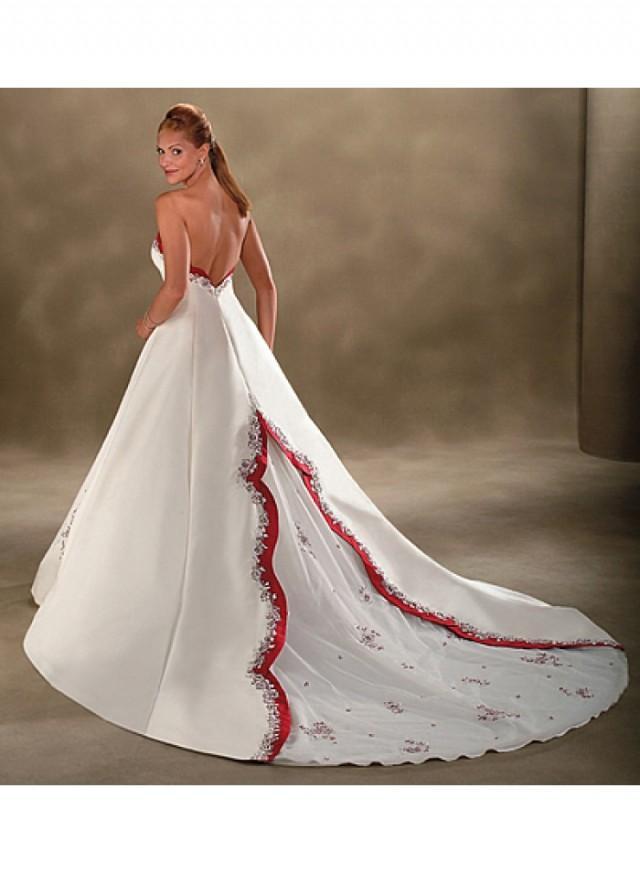 A line sweetheart spaghetti strap ball gown empire sweep for Spaghetti strap ball gown wedding dress