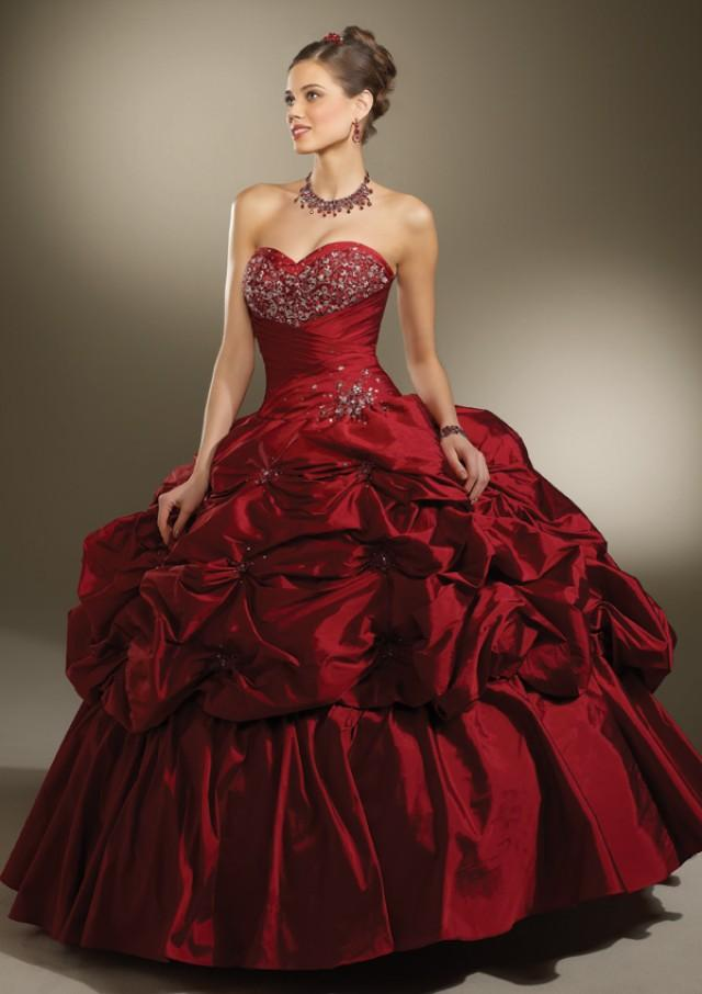 wedding photo - Silky Taffeta With Embroidery And Beading Bridesmaids Dresses(HM0594)