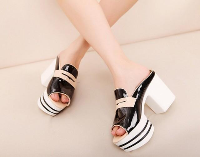 wedding photo - Sexy Style High Heels Fish Mouth Sandals White SD0436