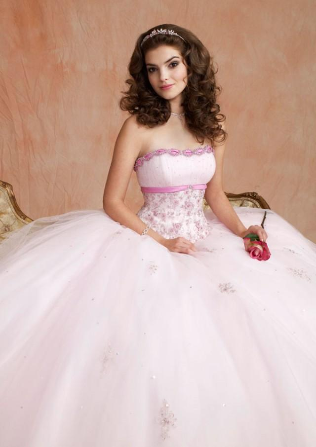 wedding photo - Embroidered Tulle With Satin Trim Bridesmaids Dresses(HM0602)
