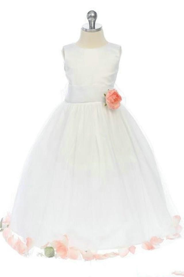 wedding photo - Satin A Line Flower Trimed Affordable Inspires Flower Dresses 2012, Flower Girl Dresses - 58weddingdress.com