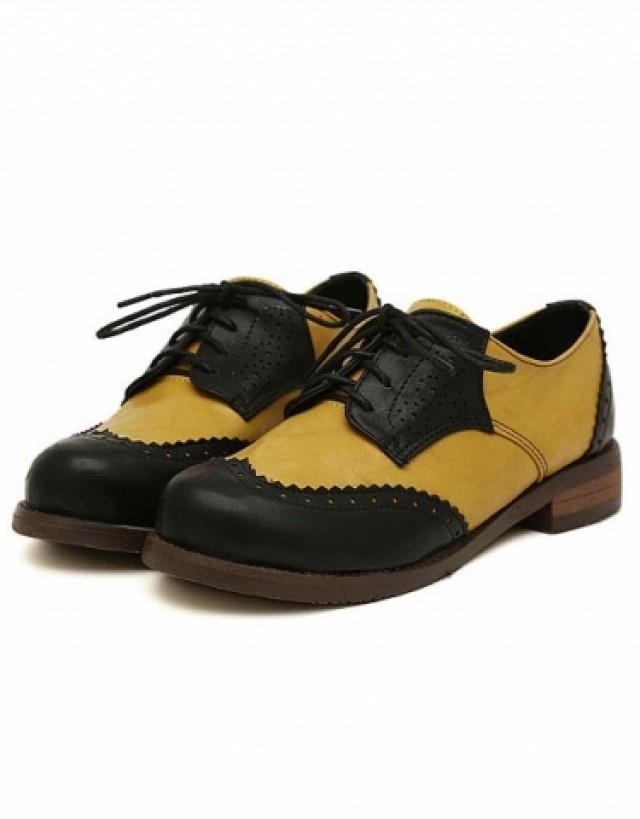 wedding photo - Vintage Vogue Retro Low Heels Shoes Flat Black FT0102