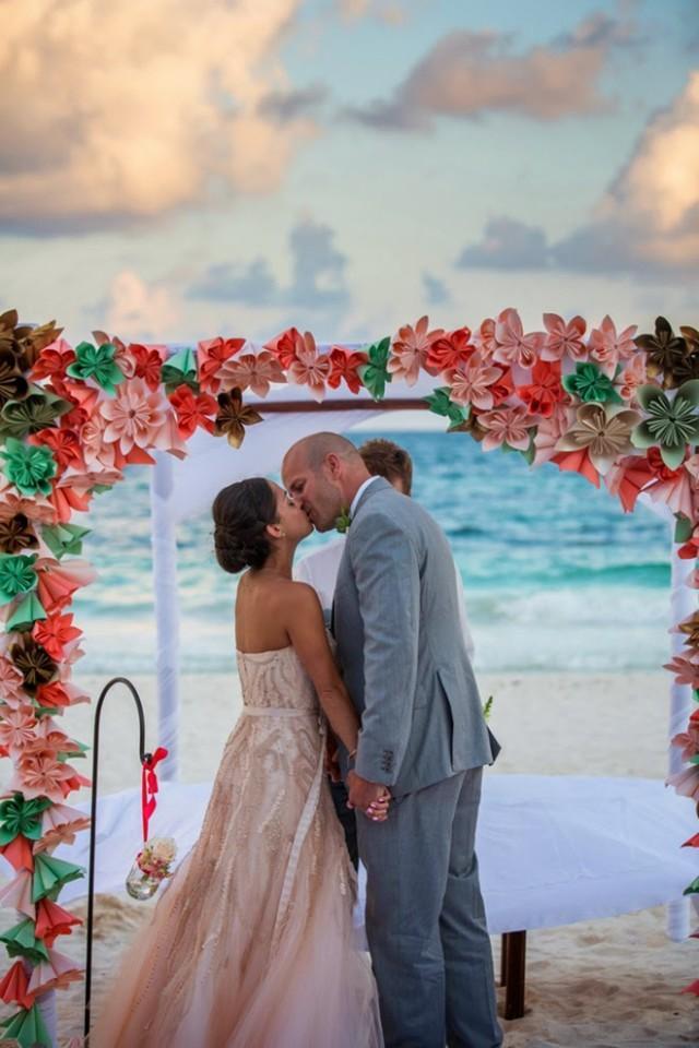 Colorful Beach Wedding In Tulum