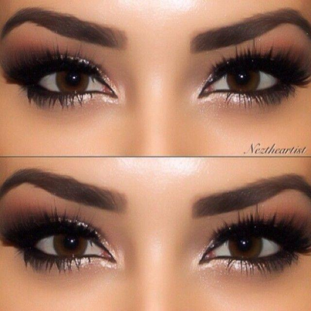 Gold eye makeup for brown eyes
