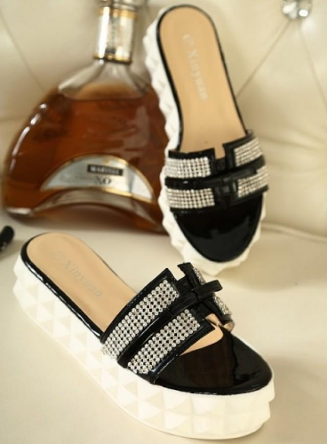 wedding photo - Bohemian Style Shivering Sandal Shoes Blue Blue SP0045