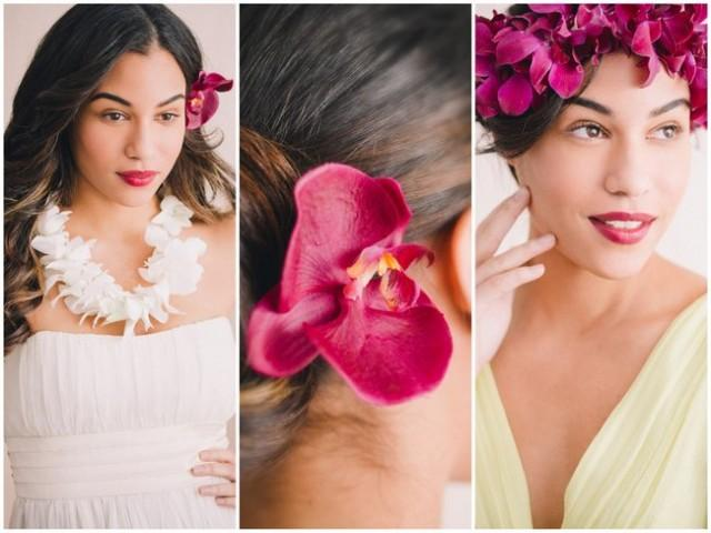 Stunning Beach Wedding Hairstyles & Tropical Hair Styling