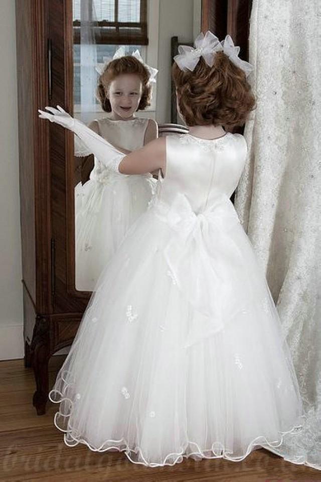 wedding photo - Organza A Line Princess Customzied Designer Flowergirl Dresses