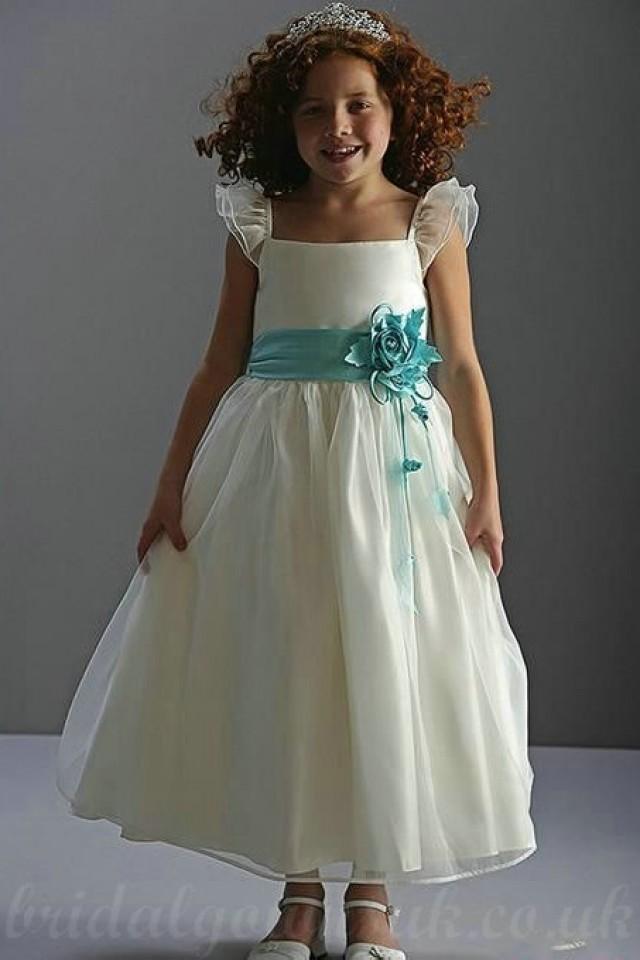 wedding photo - Organza Princess A Line Flower Trimed Customized Junior Pageant Dress