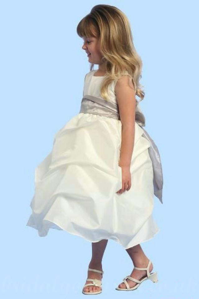 wedding photo - Organza Common Sash Affordable Simple Style Girl Pageant Dresses