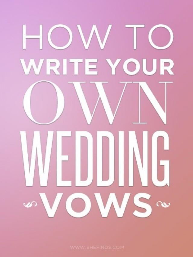 Writing vows