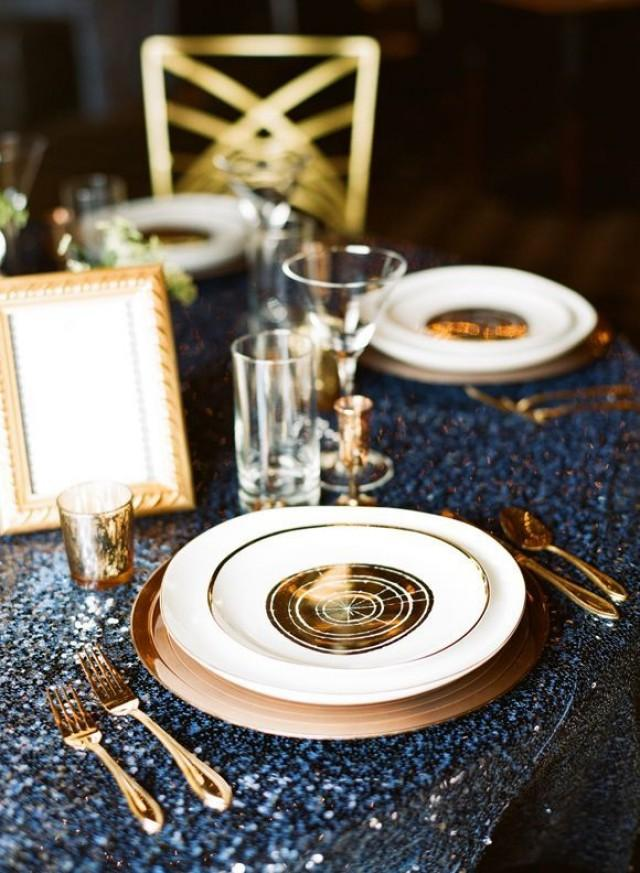 Gee Di Moda Rectangle Tablecloth  60 x 102 Inch  Royal