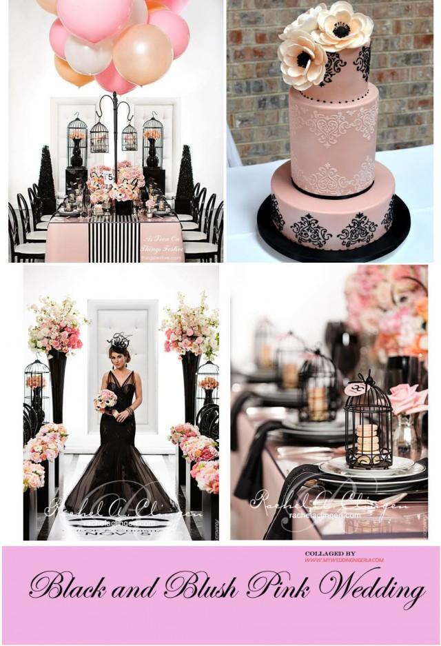 Black And Pink Wedding Color Palette