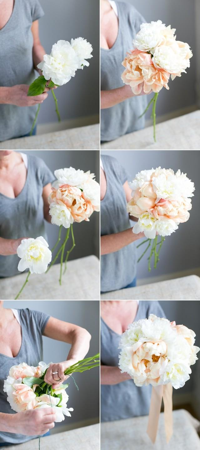 Create Your Own Handtied Peony Wedding Bouquet