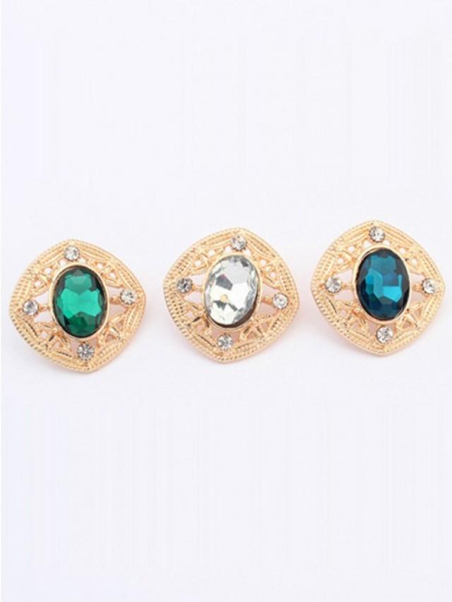wedding photo - Occident Stylish Temperament Gemstone all-match Stud Earrings