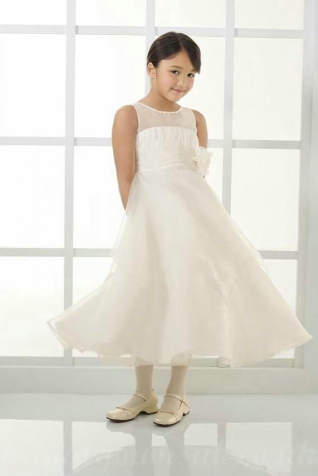 wedding photo - Chiffon A Line Bow Back Wholesale Design Customized Girls Dress