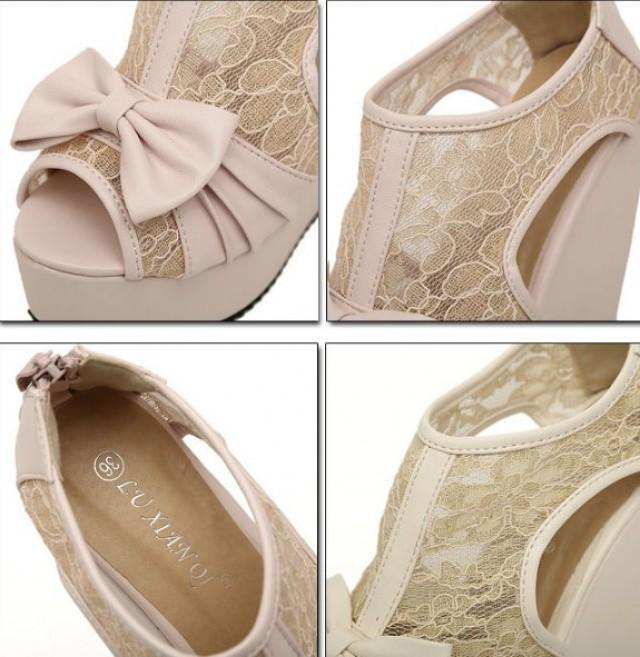 wedding photo - Fashion Style Water Proof Sandals Shoes Brown Brown SD0270