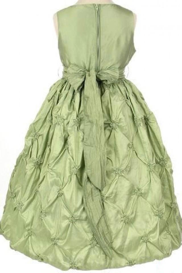 wedding photo - Satin Common Ruffles Sash Ball Gown Designer Perfcet Girls Formal Dress, Flower Girl Dresses - 58weddingdress.com