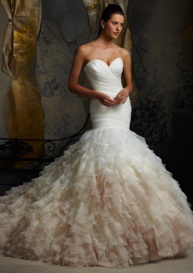 wedding photo - Ruffled Organza Wedding Dresses(HM0134)