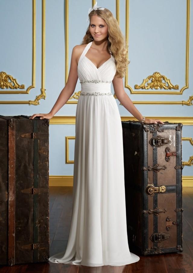 wedding photo - Crystal Beading On Chiffon Wedding Dresses(HM0277)