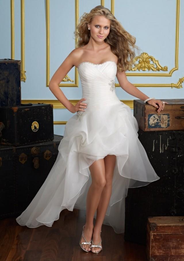 wedding photo - Crystal Beading On Organza Wedding Dresses(HM0275)