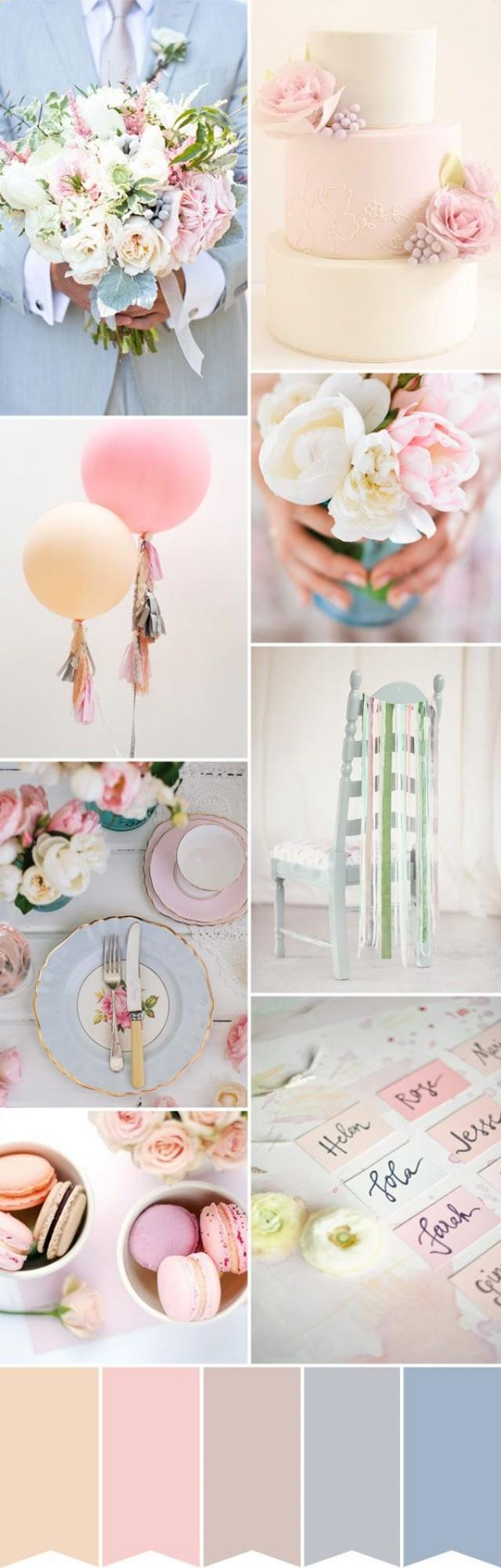 wedding photo - Pastel Wedding Style