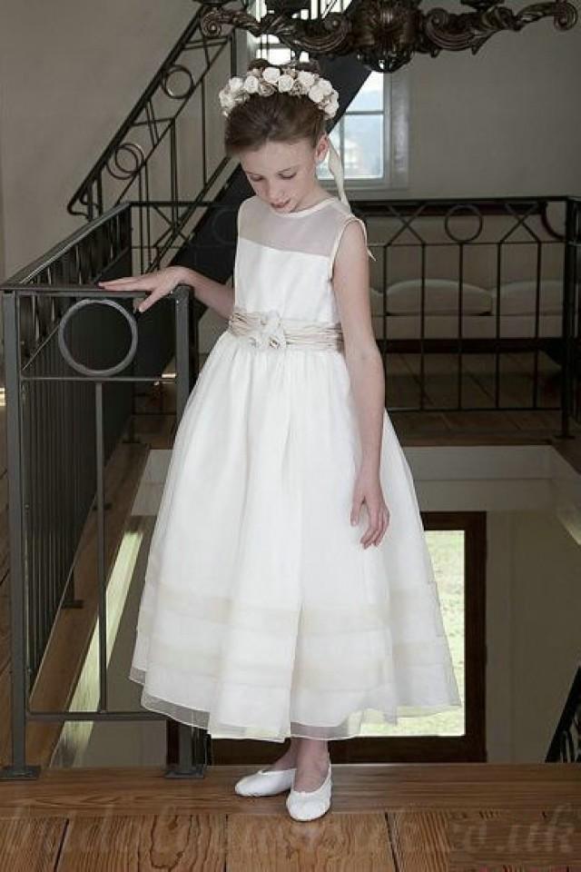 wedding photo - Satin And Chiffon Common A Line Sash Perfect Customzied Girls Dress, Flower Girl Dresses - 58weddingdress.com